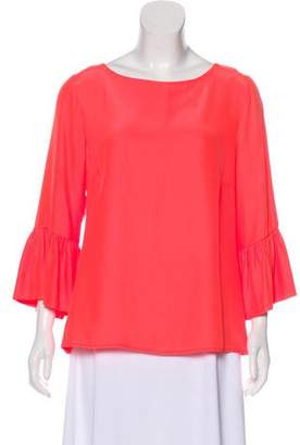 Julie Brown Silk Long Sleeve Top w/ Tags