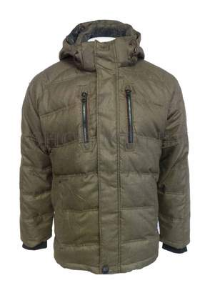 Hawke & Co Men's Down Feather Fill Coat with Removable Hood