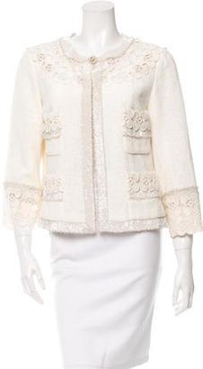 Chanel Embellished Lace-Trimmed Jacket