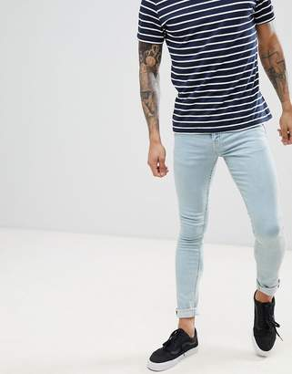 New Look Skinny Fit Jeans In Bleach Blue Wash