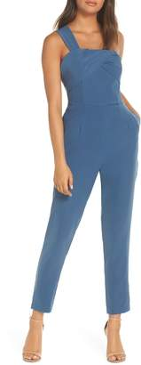 Adelyn Rae Adria One-Shoulder Jumpsuit