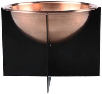 Menuha Rounded Copper Bowl with Steel Stand