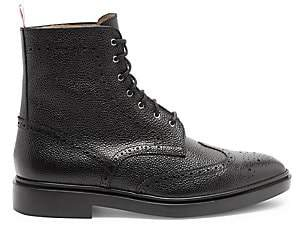 Thom Browne Men's Classic Leather Wingtip Boots