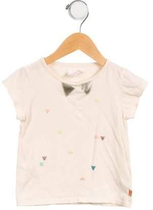Billieblush Girls' Embellished Crew Neck T-Shirt