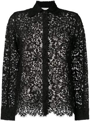 P.A.R.O.S.H. floral lace shirt