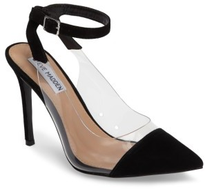Women's Steve Madden Wave Clear Inset Pump