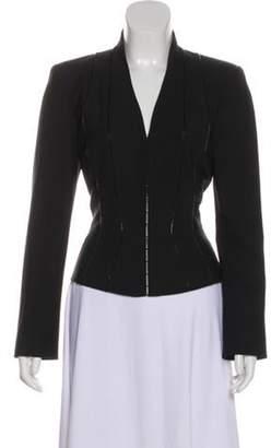 Thierry Mugler Structured Stand Collar Blazer Black Structured Stand Collar Blazer