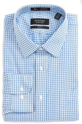 NORDSTROM MEN'S SHOP Smartcare(TM) Trim Fit Check Dress Shirt (Big & Tall) $69.50 thestylecure.com