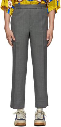 Gucci Black Birdseye Piping Trousers