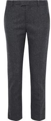 RED Valentino Cropped Herringbone Wool-Blend Tapered Pants