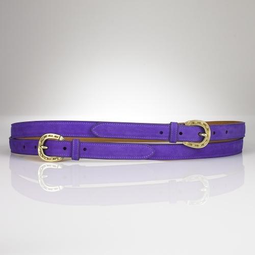 Skinny Suede Wrap Belt