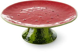 """Bordallo Pinheiro Watermelon Cake Stand, 13""""Dia."""