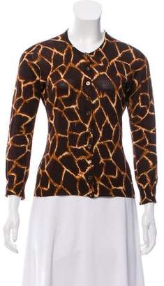 Dolce & Gabbana Animal Print Button-Up Cardigan