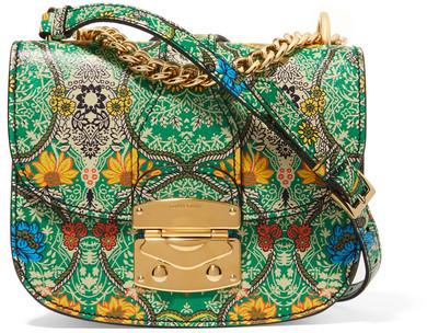 Miu MiuMiu Miu - Madras Floral-print Textured-leather Shoulder Bag - Green