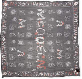 Alexander McQueen Silk Shawl w/ Skull Cabinets Pattern