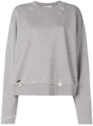 Alexander Wang distressed sweatshirt