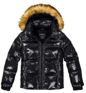 S13/Nyc Girl's Faux Fur-Trimmed Down Jacket