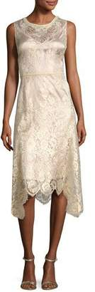 Kobi Halperin Sariyah Sleeveless Floral Lace Cocktail Dress, Gold