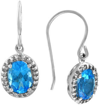 Effy Fine Jewelry 14K 2.07 Ct. Tw. Diamond & Blue Topatz Drop Earrings