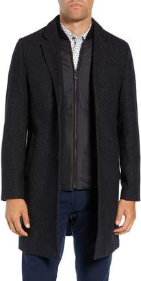 Ted Baker Cambear Trim Fit Wool Overcoat