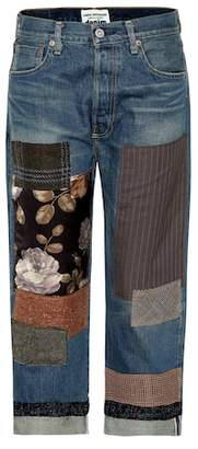 Junya Watanabe Patchwork cropped jeans
