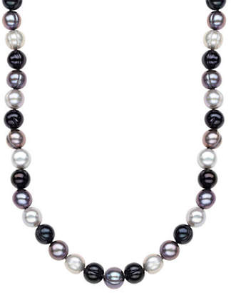 Honora STYLE Black Tie Ringed Cultured Pearl Strand Necklace