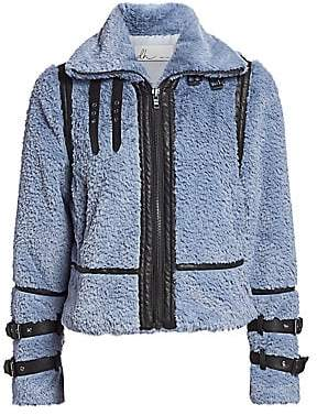 DH New York Women's Faux Fur Moto Jacket