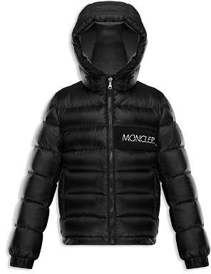 Moncler Boys' Aiton Logo Down Puffer Coat - Little Kid