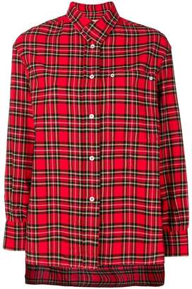 Golden Goose plaid long back shirt