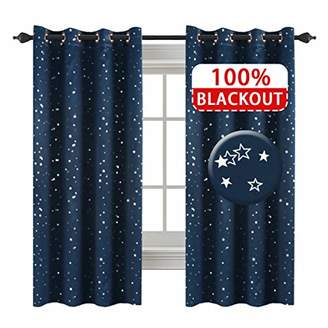Star Wars H.VERSAILTEX Full Blackout Thermal Insulated Curtain Panels Star Curtains for Boys Room Grommet Star Curtains for Kids Room