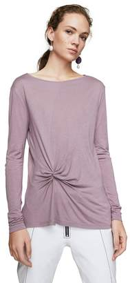 MANGO Purple 'Anudado' Long Sleeve T-Shirt