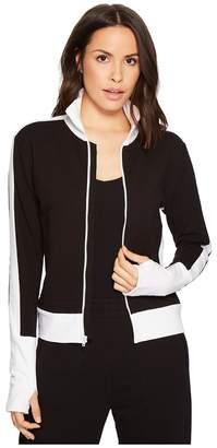Norma Kamali KAMALIKULTURE by Side Stripe Turtle Jacket Women's Coat