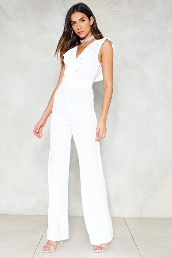 nastygal Come into My World Ruffle Jumpsuit