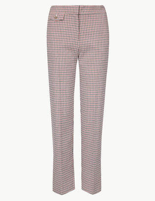 Marks and Spencer Checked Straight Leg Trousers