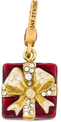 Jay Strongwater Enamel & Crystal Gift Charm