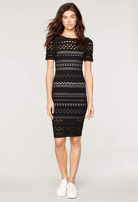Milly Knit Lace Cutout Fitted Sheath