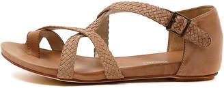 Django & Juliette New Gamasi Dark Beige Womens Shoes Casual Sandals Sandals Flat