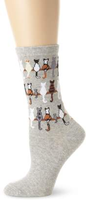 K. Bell Socks Women's Cats On A Line Socks