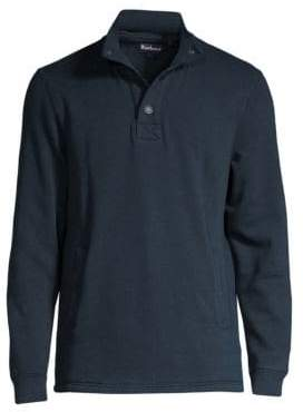 Barbour Men's Snap-Front Pullover - Navy - Size XL