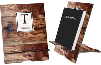Monogram Online Wood Color Personalized Book and iPad Stand