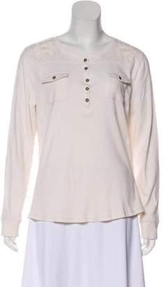 Lauren Ralph Lauren Embroidered Long Sleeve Top