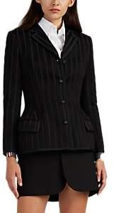 Thom Browne Women's Striped Wool-Blend Four-Button Blazer - Black