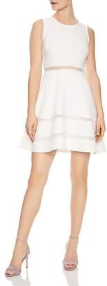 Sandro Carrie Lace-Inset Mini Dress