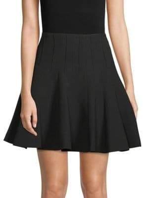 BCBGMAXAZRIA A-Line Godet Skirt