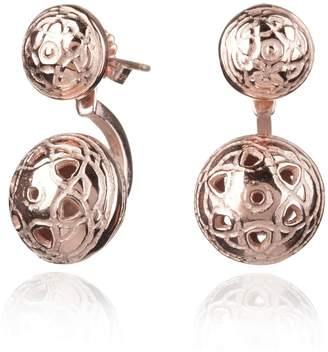 Maro - Rose Gold Byzantine Twin Ear Jackets