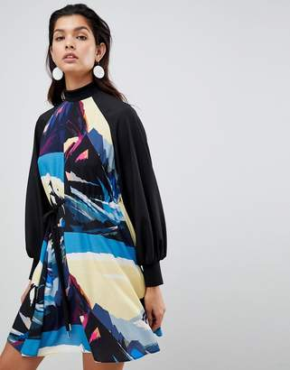 Sportmax CODE Code Scenic Printed Dress