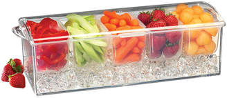 Prodyne Acrylic Condiment On-Ice Tray With Hinged Lid