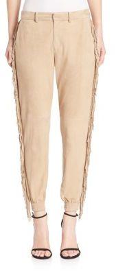 Polo Ralph Lauren Fringed Suede Boyfriend Pants $1,298 thestylecure.com