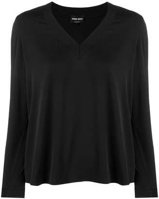 Giorgio Armani silk v-neck blouse