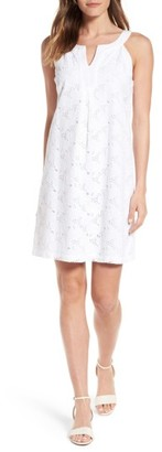 Women's Tommy Bahama Eyelet Cotton Shift Dress $158 thestylecure.com